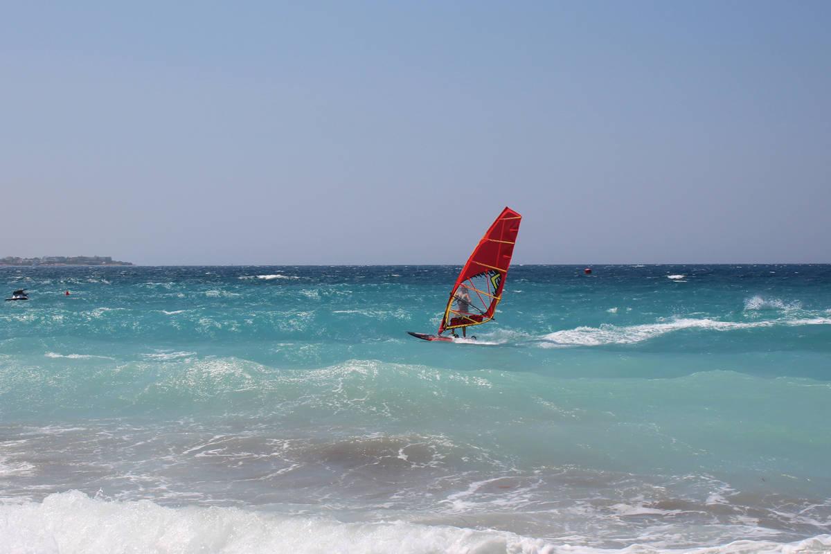 Strand Karte Rhodos.Windsurf Infos Ixia Rhodos